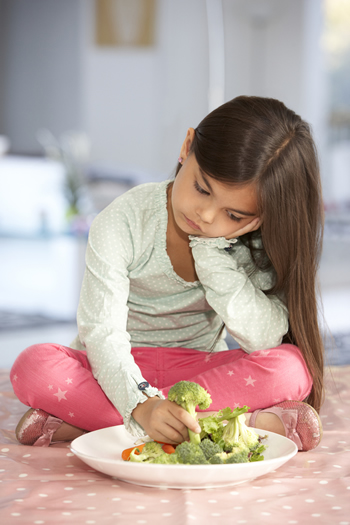 girl no veggies