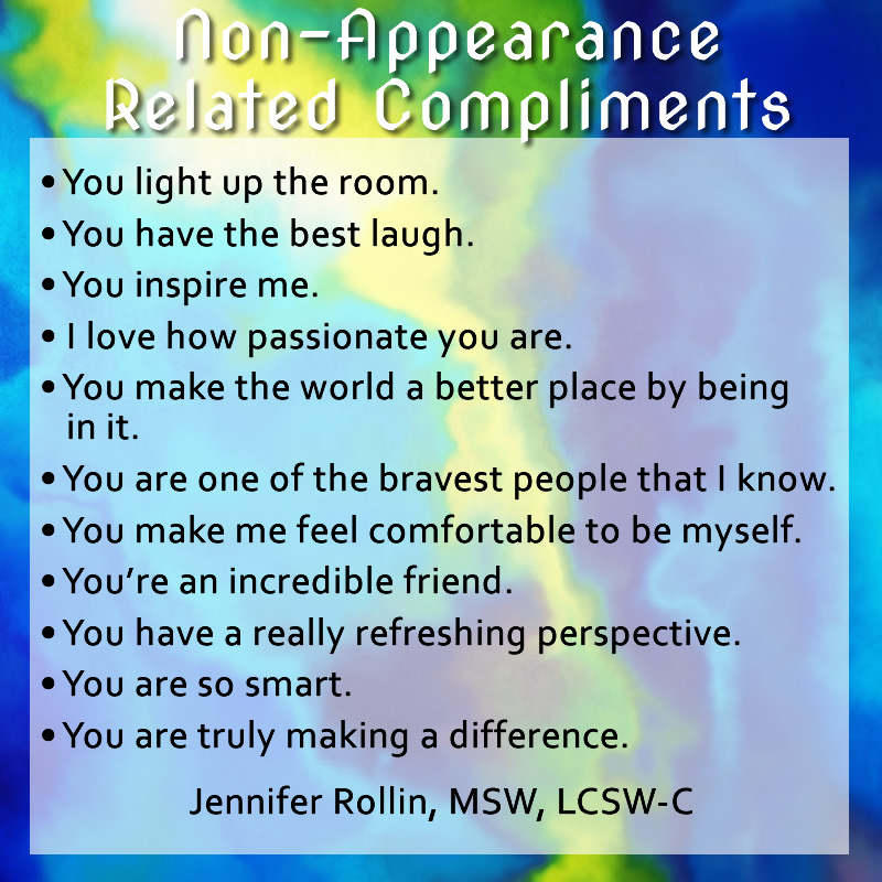 non appearance related compliments