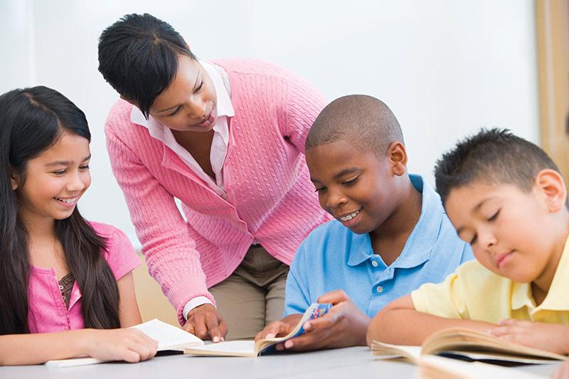 Kids being tutored