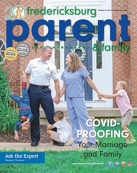 September 2020 Cover of Fredericksburg Parent Magazine